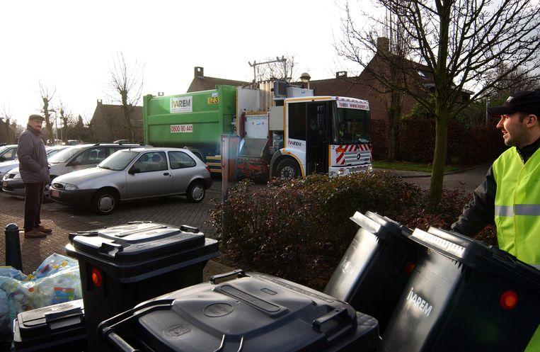 Bij het diftar-systeem wordt gewerkt met vuilniscontainers in plaats van vuilniszakken.