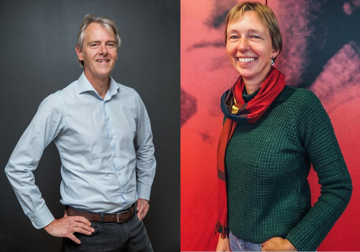 Frank Kalshoven (links) en Esther de Jong