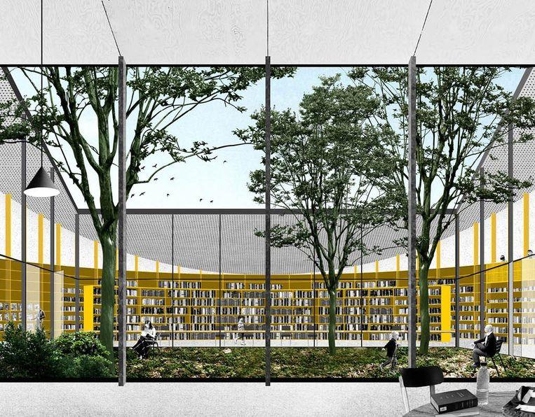 De toekomstige bibliotheek in de Latemstraat.