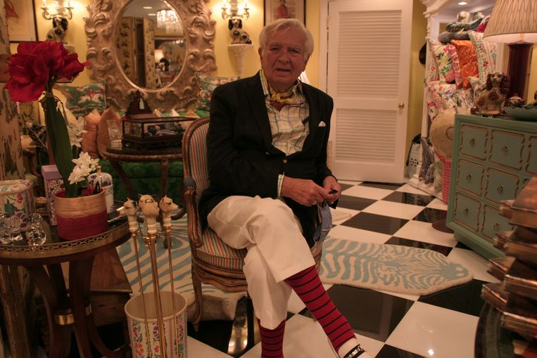 Carleton Varney, decorateur en tevens onderbuurman van Donald Trump in de Trump Tower in New York. Beeld Michael Persson