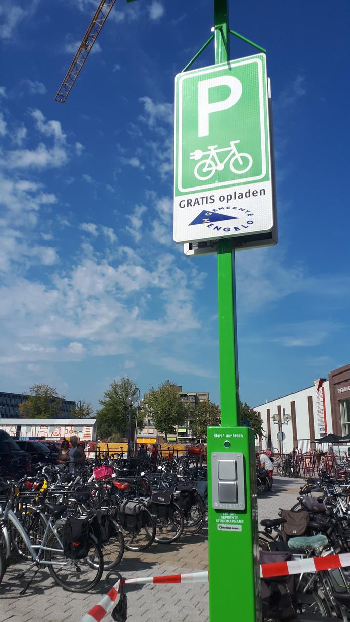 Laadpunt elektrische fiets