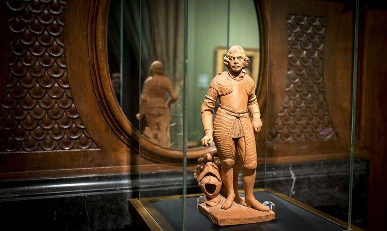 De kamer met het terracotta beeldje van Johan Maurits van Nassau-Siegen alwaar uitleg gegeven wordt over de rol van Johan Maurits in Brazilie in het Mauritshuis. Beeld ANP
