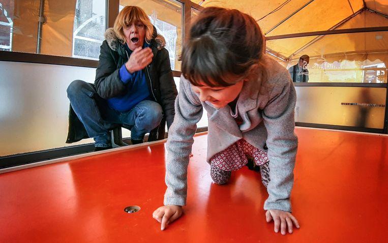 Lola Brillant won het BK kuiltjesknikkeren bij de kinderen (tot veertien jaar)