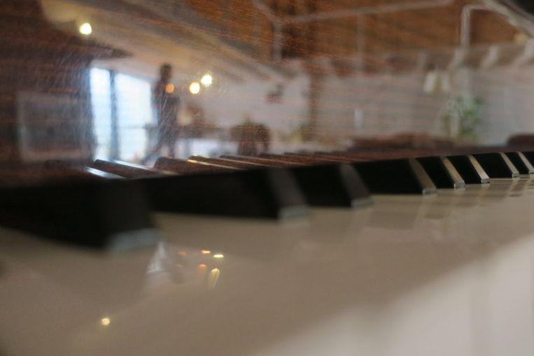 De piano van Dimitri Verhulst. Beeld null