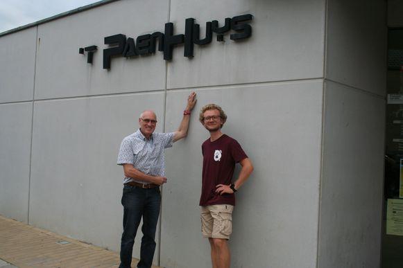 Luc Vandeplas en Yennef Vereycken voor het Paenhuys