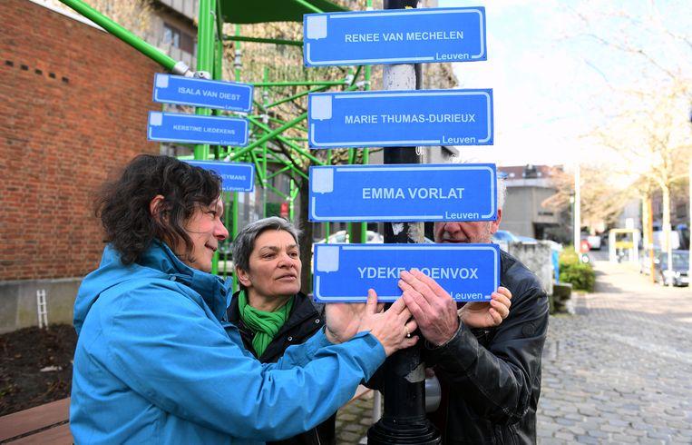 Enkele voorstellen om straatnamen te vernoemen naar vrouwen.