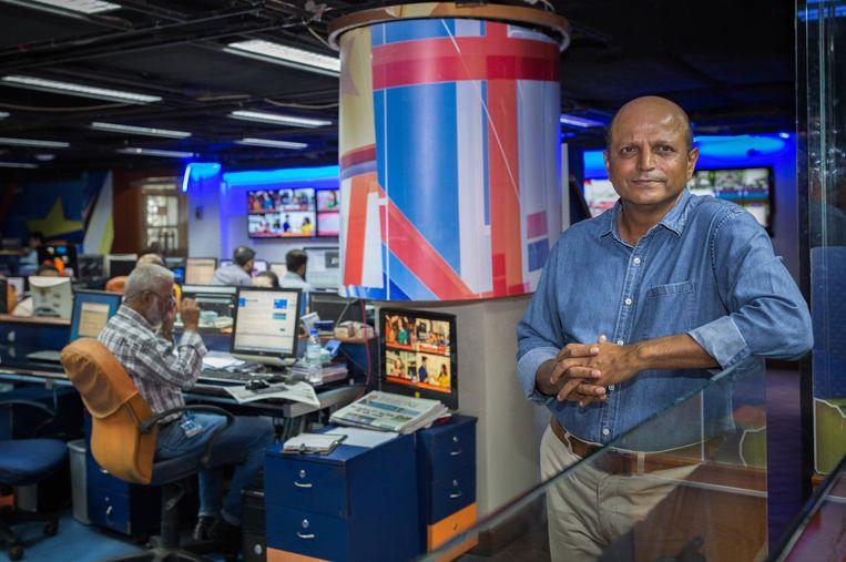 Azhar Abbas, directeur van Geo News: 'Vroeger wist je tenminste nog wat de 'rode lijnen' waren. Tegenwoordig zijn de grenzen vaag'. Beeld Asim Hafeez