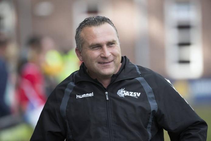 AZSV-trainer Dennis van Toor zag zijn ploeg winnen. Archieffoto