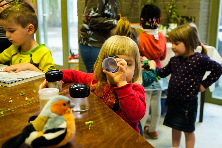 In de bioklas kunnen kinderen de natuur ontdekken.