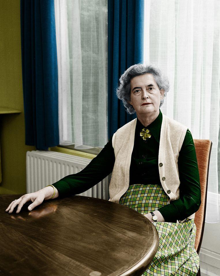 Tineke Schilthuis, vanaf 1974 commissaris van de koningin in Drenthe. Beeld Hollandse Hoogte / beeldbewerking Liselore Kamping