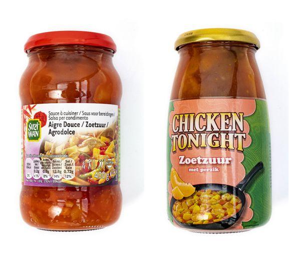 Suzi Wan Zoetzuur en Chicken Tonight Zoetzuur met perzik