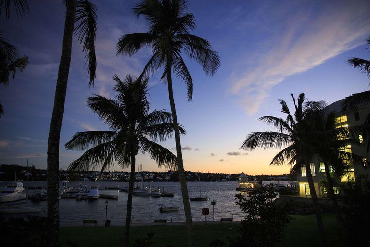 Hamilton Harbour in Bermuda. Foto ter illustratie.