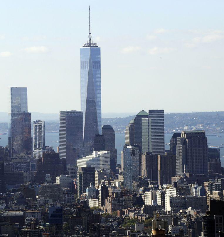 De vernieuwde skyline van New York, met het One WTC als hoogste punt. Beeld ap