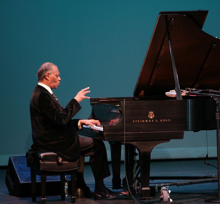 'Mijn grote held, deze jazzpianist.'  Beeld Getty