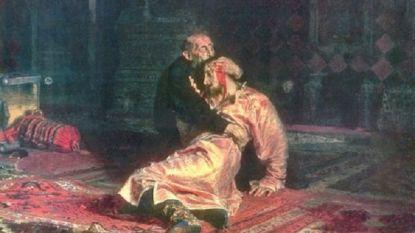 Museumbezoeker hakt met metalen paal in op wereldberoemd schilderij Ivan de Verschrikkelijke