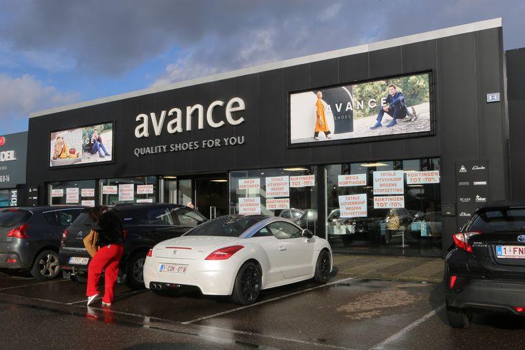 De schoenwinkel Avance.