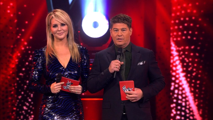 Chantal Janzen en Martijn Krabbé in de liveshow van twee weken geleden.