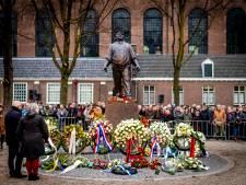 Ferdinand Grapperhaus en Jan Terlouw bij herdenking Februaristaking