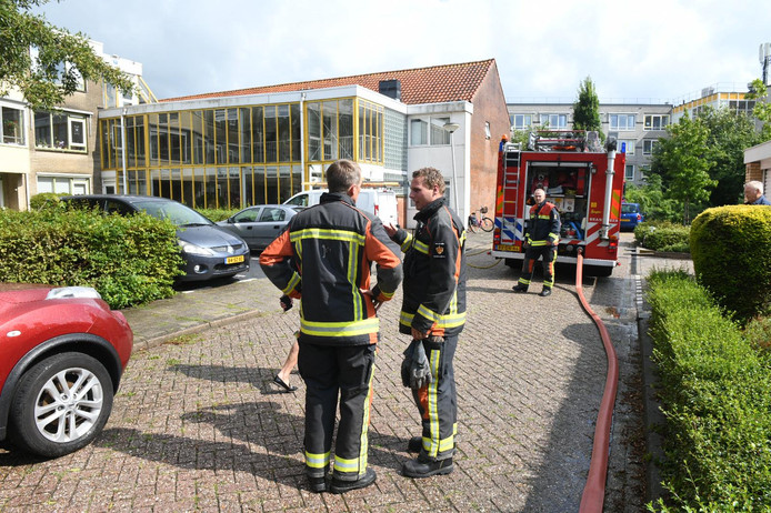 Brand op dak van aanbouw seniorencomplex Oranjehof Bodegraven