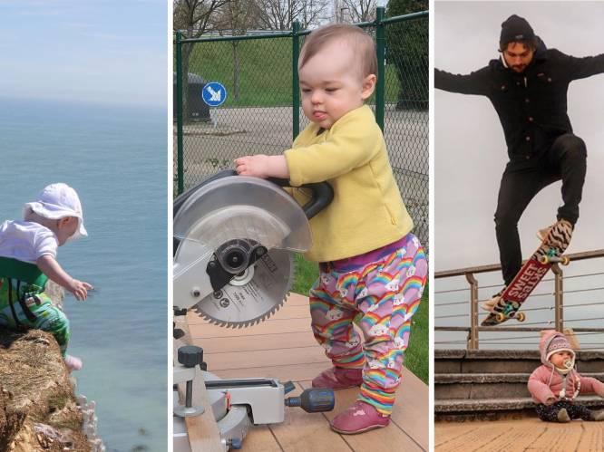 Antwerpse papa maakt hilarische Instagrampagina om vriendin te tonen dat dochtertje veilig is