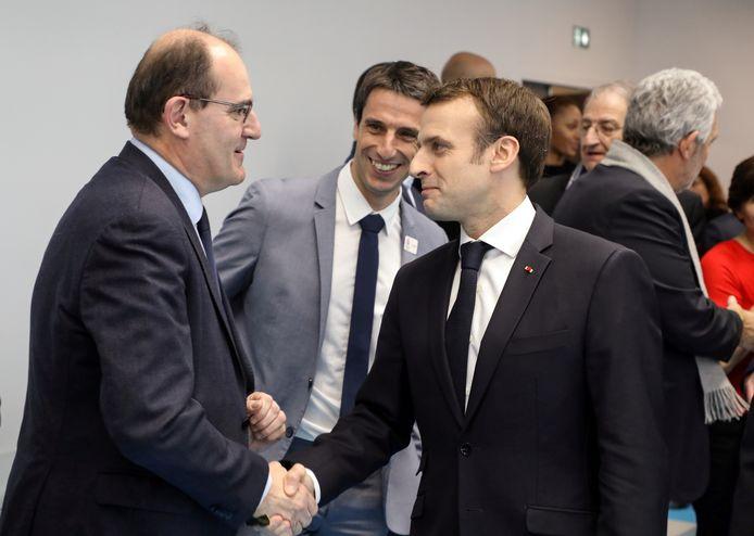 Avec Emmanuel Macron en janvier 2019.