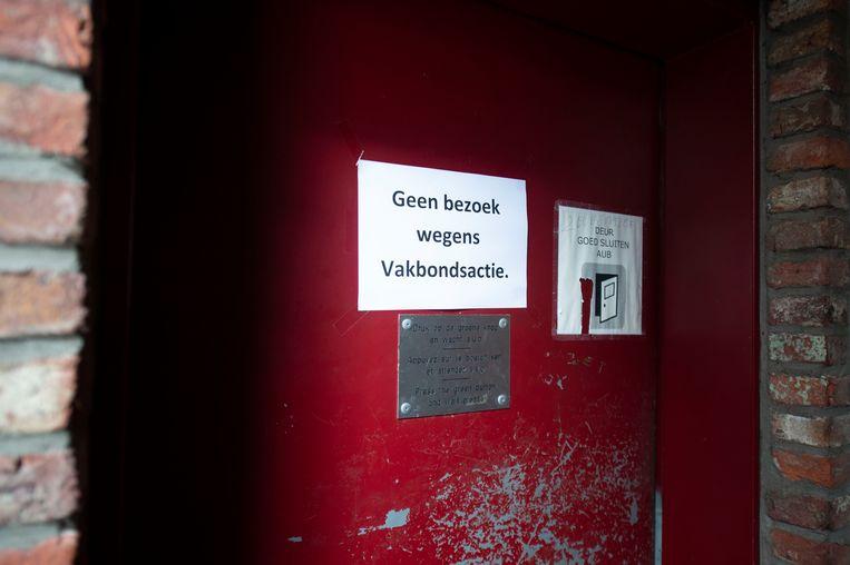 27092019 Antwerpen gevangenis Vakbonden staken