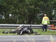 Motorrijder zwaargewond bij ongeluk op A2 bij Budel, weg weer vrijgegeven