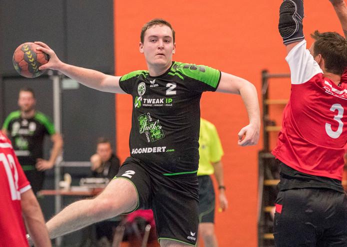 Orion/GSC in de aanval tegen Kwieksport, dat met een 20-23-overwinning uit Heinkenszand vertrok.