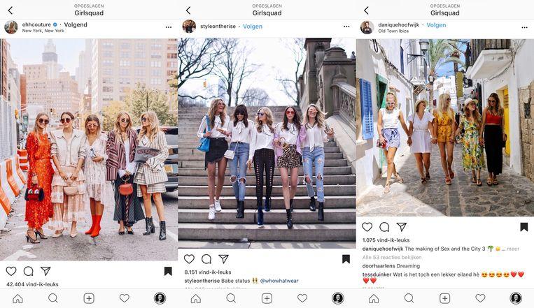 Met de 'girlsquad' Beeld Instagram
