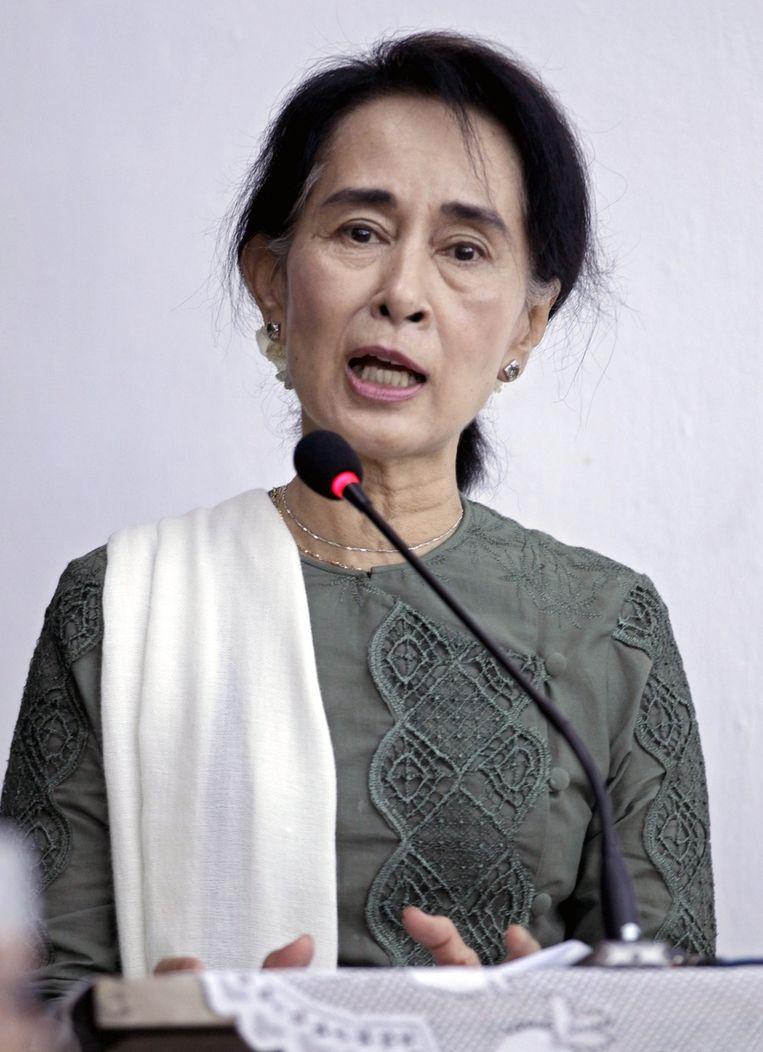 Nobelprijswinnaar Aung San Suu Kyi Beeld epa