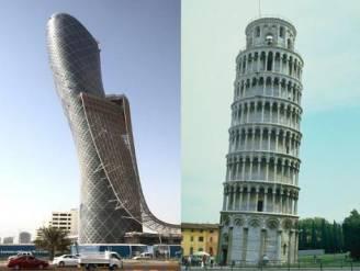 Abu Dhabi klopt Pisa met scheve toren