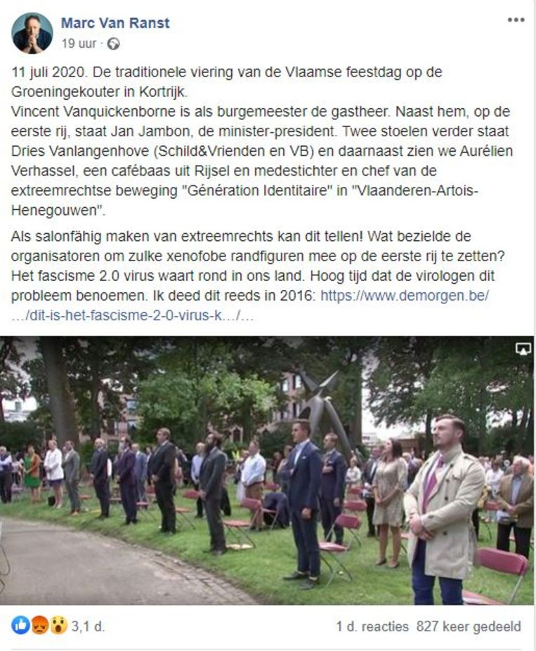 Marc Van Ranst over de Guldensporenviering in Kortrijk