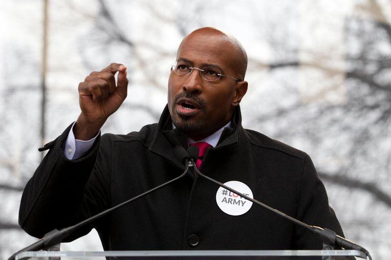 Oud-adviseur Van Jones van president Obama. Jones, een Democraat, trok de aandacht met zijn lofuitingen richting de president. Beeld null