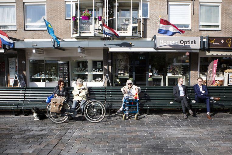 Het Loosduinse Hoofdplein in Den Haag, waar Wilders zijn controversiële uitspraak deed. Beeld Julius Schrank