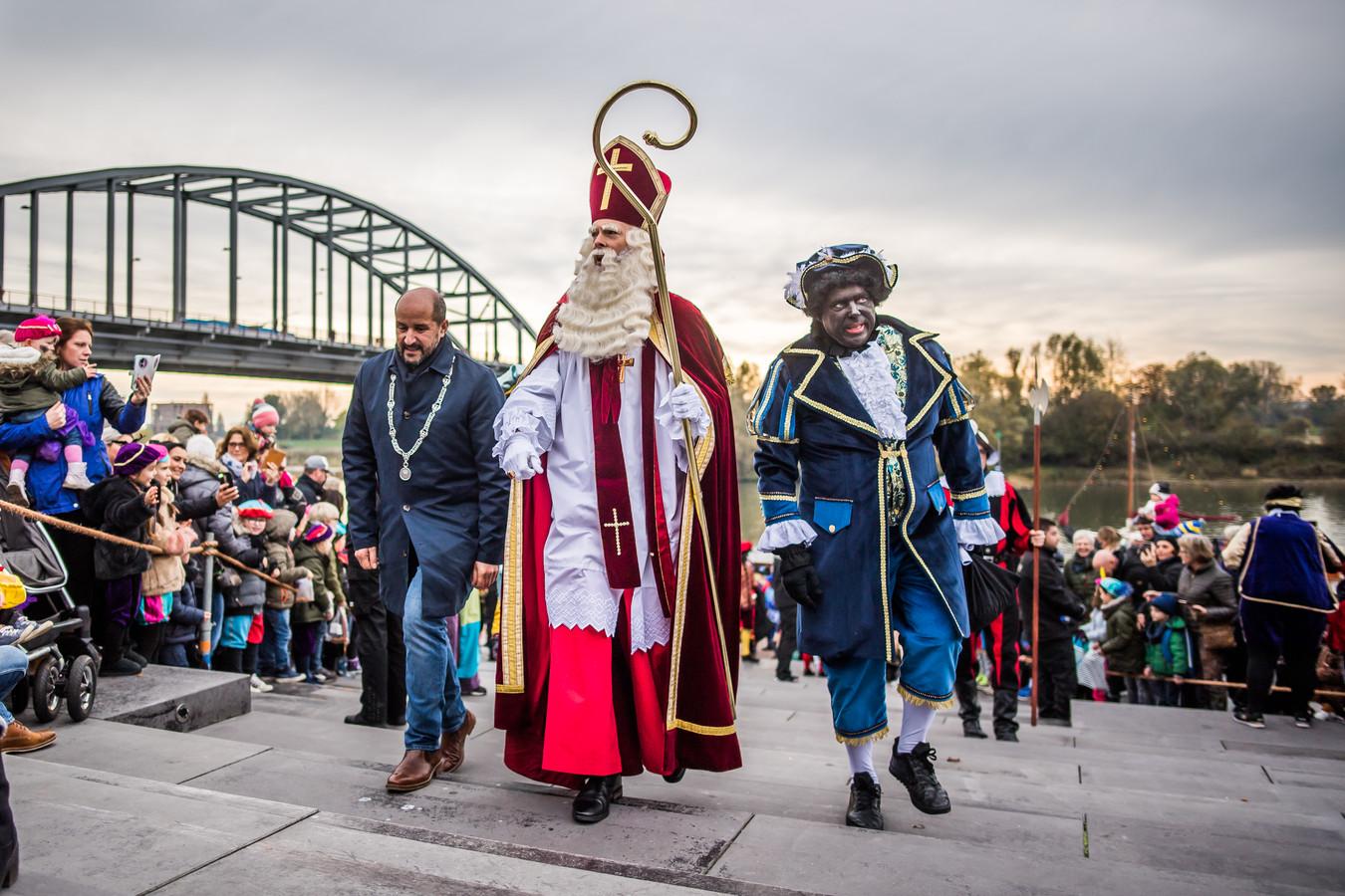 De aankomst van Sinterklaas in Arnhem in 2019.