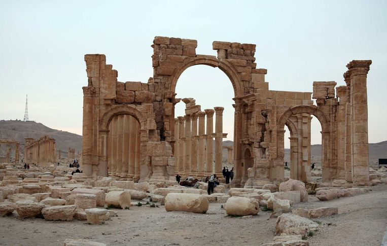 De Romeinse ruïnes van Palmyra. Beeld reuters