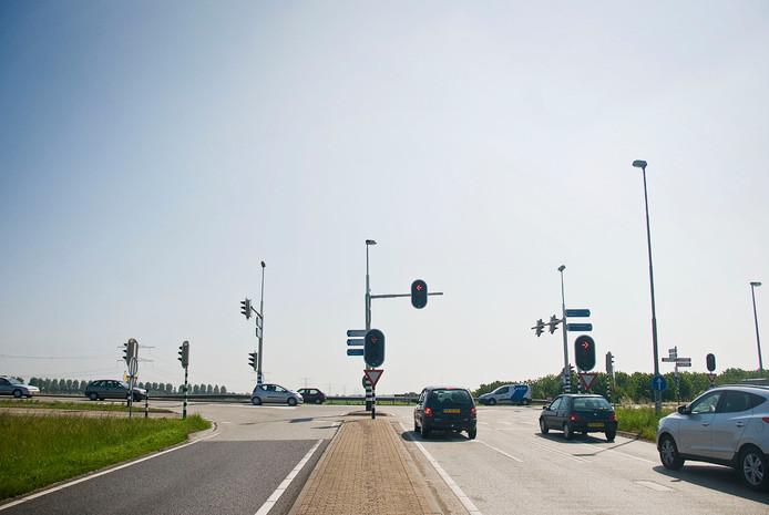 Het einde van de A15 bij Bemmel.