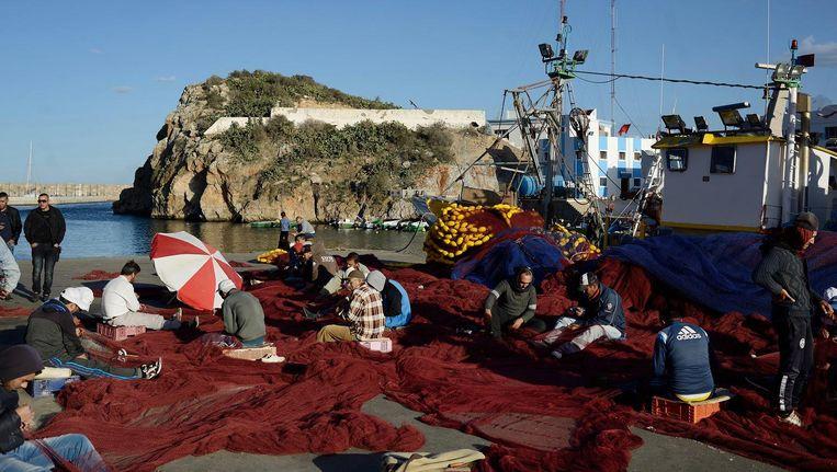 Zicht op de haven van Al Hoceima. Beeld Samuel Aranda