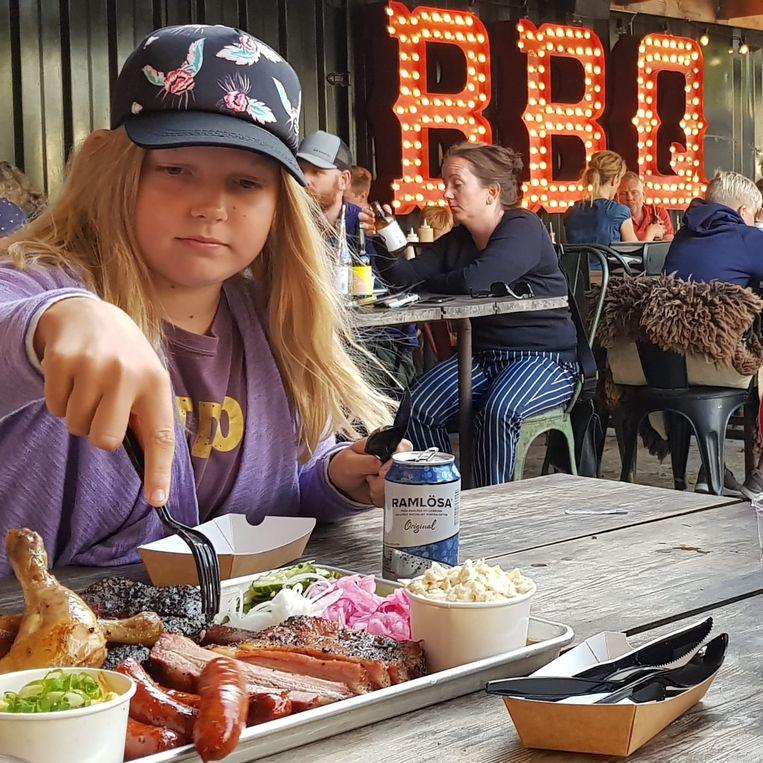 Bbq-en bij Holy Smoke aan de Zweedse westkust Beeld