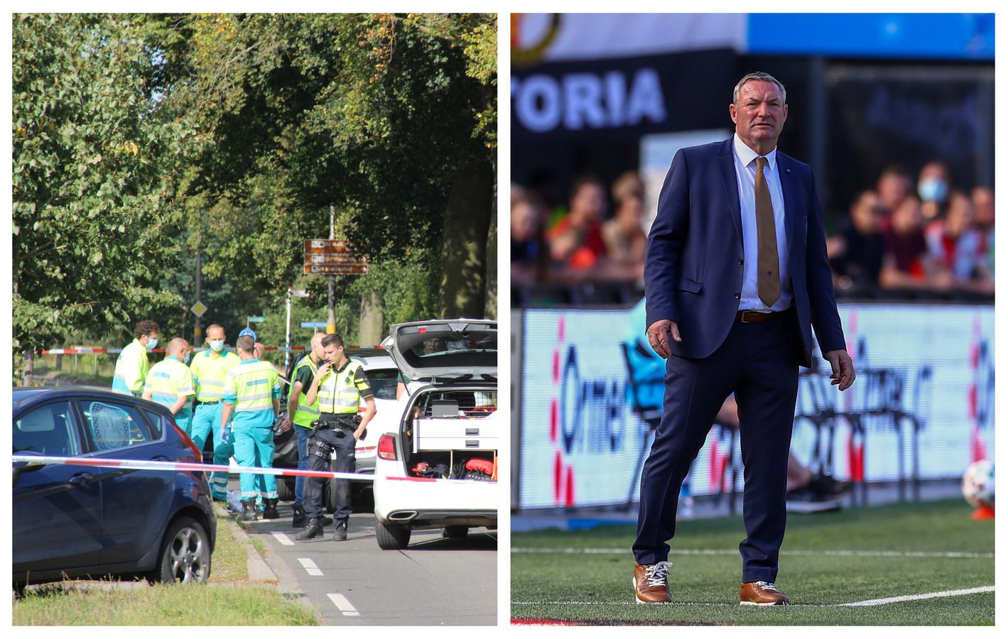 Een triest ongeval in Eibergen (links) en Ron Jans (rechts)