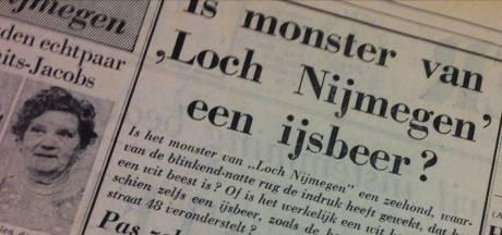 Een witte walvis was in 1966 een uniek spektakel in Waal en Rijn: 'is het monster van Loch Nijmegen een ijsbeer?'