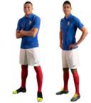 Weer feest bij Les Bleus vanavond. Frankrijk viert in Moldavië het 100-jarige bestaan van de Franse voetbalbond FFF. Kylian Mbappé, Raphaël Varane en hun teamgenoten doen dat in deze speciale retroshirts.