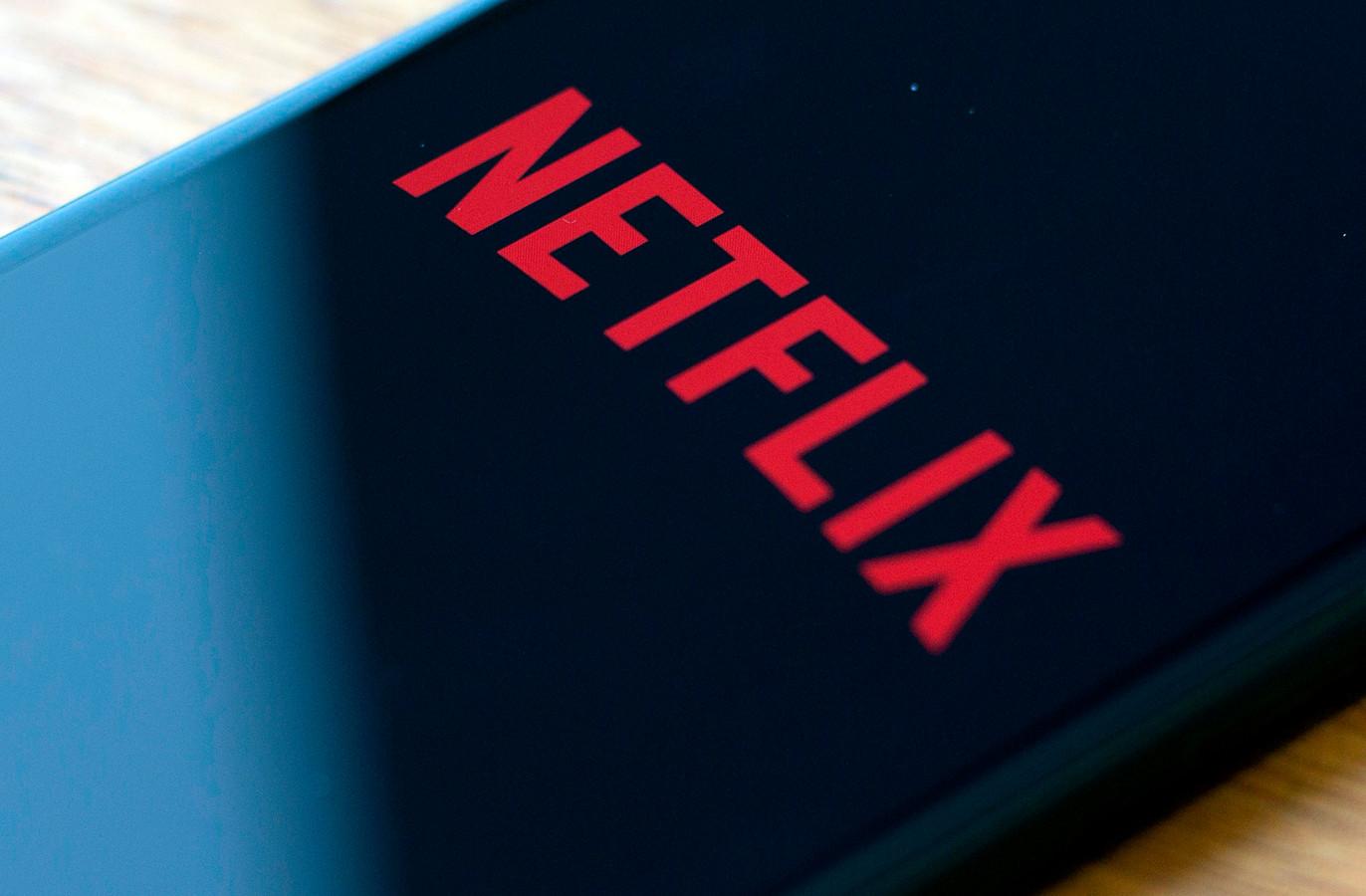Het logo van Netflix.