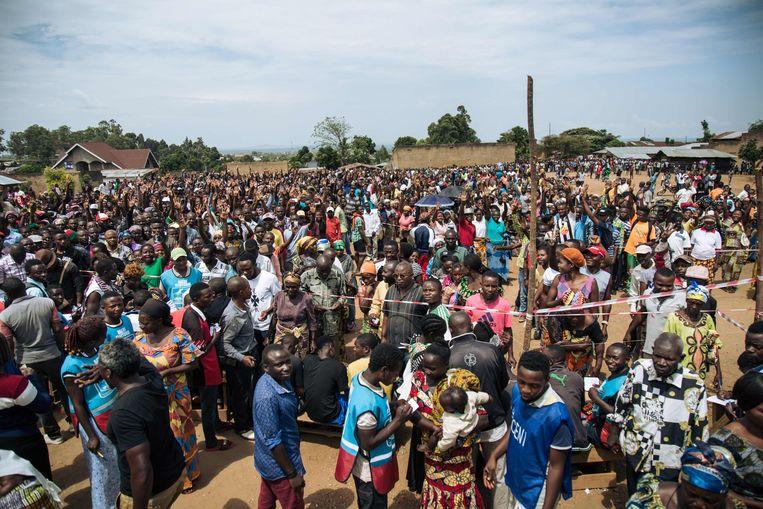 Wint onverwachts toch een oppositiekandidaat, dan wordt het de vraag hoe Congo's veiligheidsapparaat reageert. Beeld AFP/Alexis Huguet
