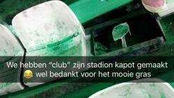 """Cercle-fans vernielen zitjes in Jan Breydel en bedanken die van Club """"voor het mooie gras"""""""