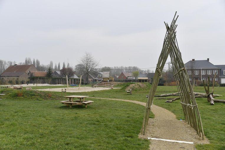 Het vernieuwde speelplein in de Donckwijk.