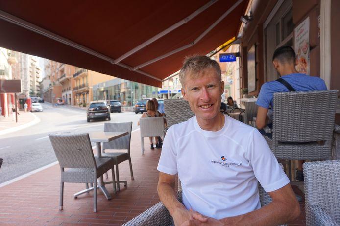 Remmert Wielinga op terras Azur Bar, Monaco. Zomer 2020