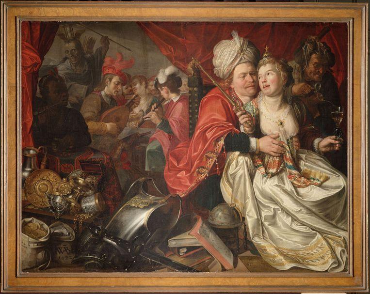 Het teruggevonden schilderij 'Vrouw Wereld' van Jacob Waben, uit 1622. Beeld Westfries Museum