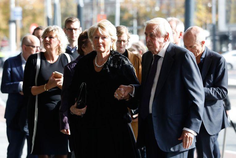 Frits Goldschmeding met partner. Beeld anp