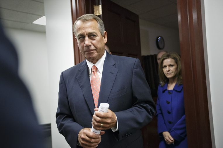 Voorzitter van het Huis van Afgevaardigden John Boehner. Beeld ap